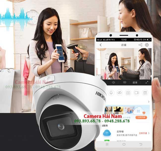 Camera Hikvision DS 2CE56H0T IT3ZF ngoai troi 5.0Mpx xem tren dien thoai