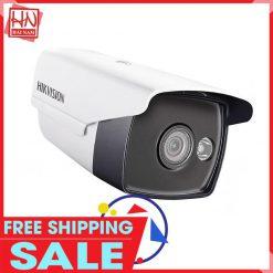 Camera Hikvision Thân trụ 2.0M Hỗ trợ Đèn màu Ban đêm, Chống nước tốt, Giá siêu rẻ