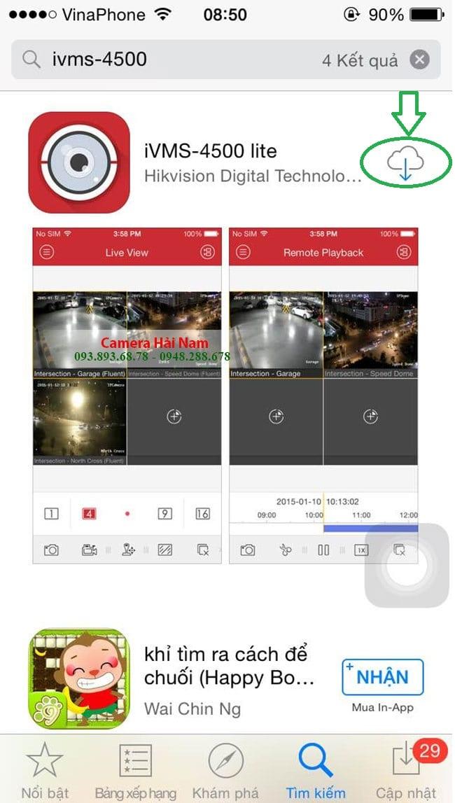 IVMS 4500 IPHONE - Tải IVMS 4500 app về Điện thoại hệ điều hành IOS