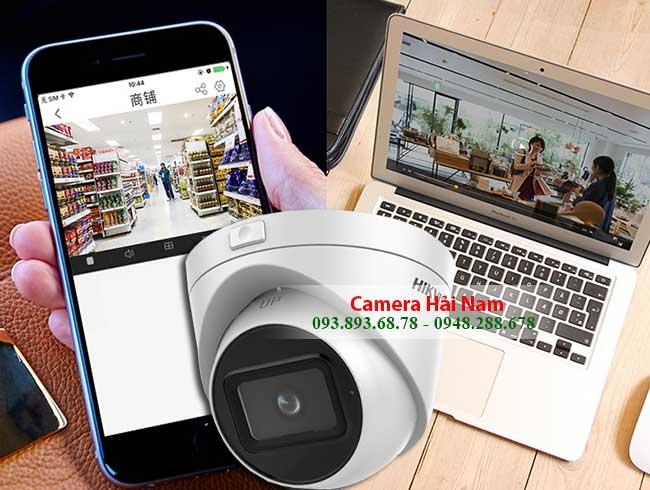 Xem camera Hikvision DS 2CE56H0T IT3ZF tu xa tren dien thoai laptop PC qua internet
