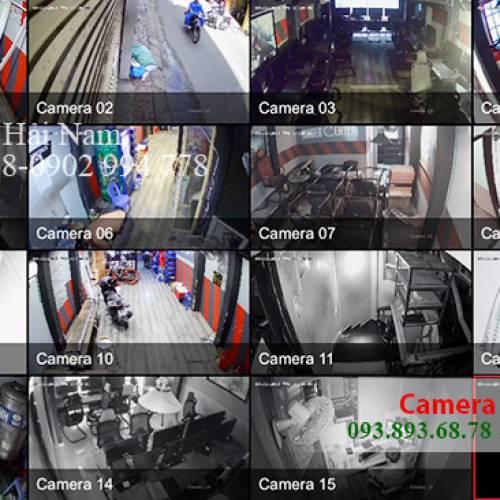 Thi công 10 mắt Camera Dahua cho Tiệm nét ở Phú Nhuận, TP. HCM