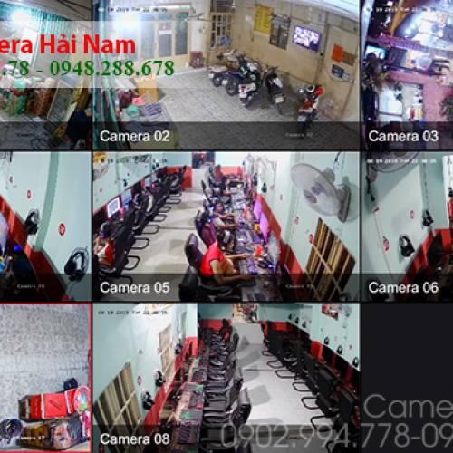 Thi công 8 mắt Camera Hikvision 2M cho Tiệm Nét ở Quận 12, TP HCM