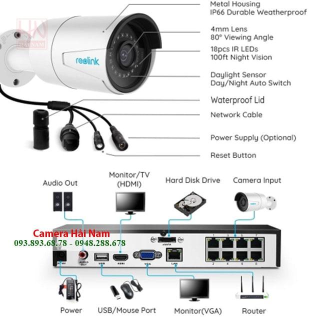 Camera Wifi Ngoài Trời Reolink RLC-410W 4MP Super HD Siêu sắc nét, Hồng ngoại hơn 30 mét, có hỗ trợ NVR