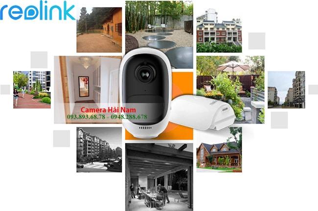 Camera Wifi ngoài trời Reolink Pin Argus 2 Full HD 1080P dùng được Năng lượng mặt trời