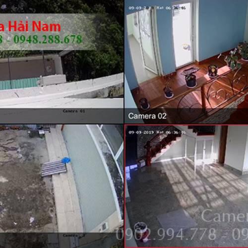 Lắp đặt 4 mắt Hikvision Full HD cho gia đình chú Ngọc ở Nhà Bè, TP. HCM
