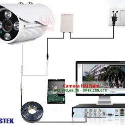 Camera Questek QNV-1213AHD 2.0M Full HD 1080P Thân hồng ngoại 30m, chống nước IP66