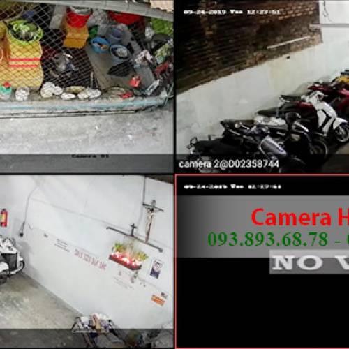 Lắp Camera Hikvision HD cho nhà Cô Hương ở đường Nguyễn Lâm