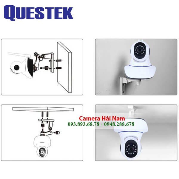 Camera Questek wifi QOB-921IP 1.0M HD 720P Đàm thoại, Hồng ngoại 15m, Kết nối được với đầu ghi
