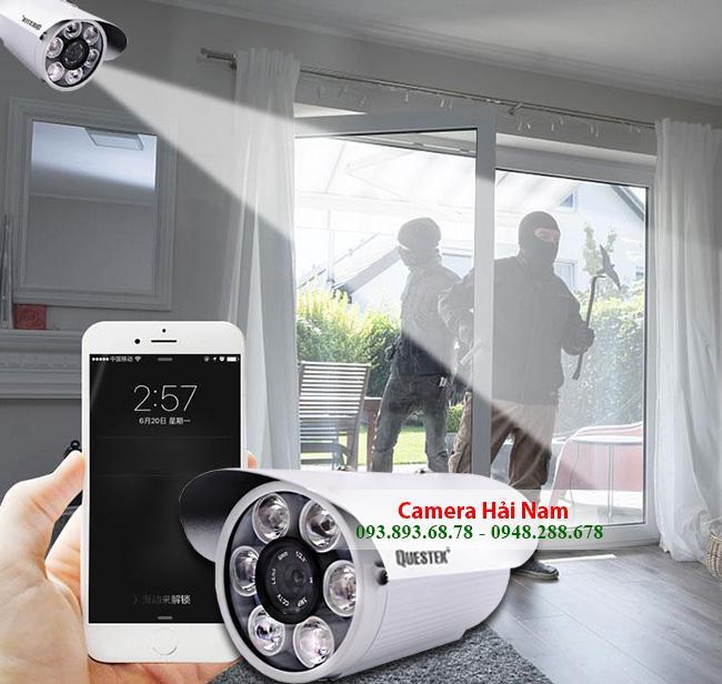Camera Questek QNV-1313AHD 2MP Full HD 1080P, Ống kính 4mm, Hồng ngoại 20m