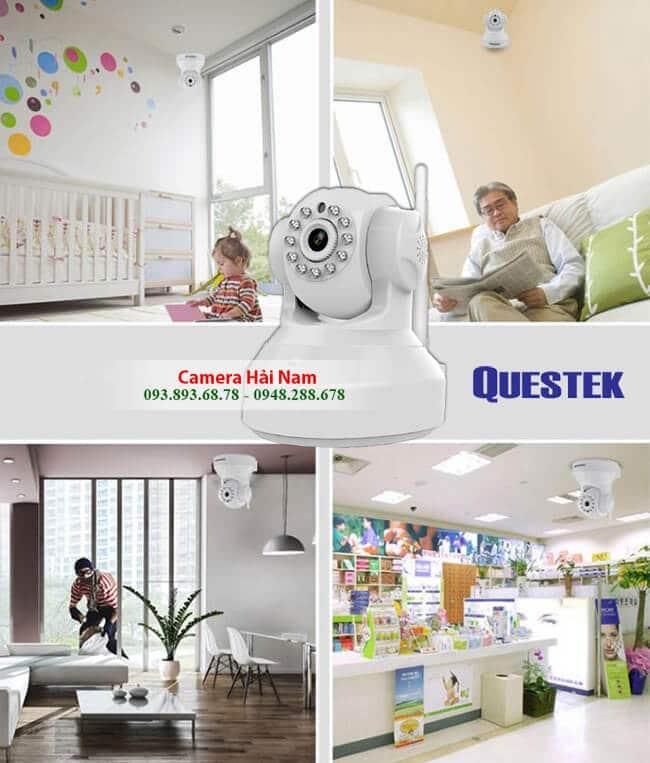 Camera Questek wifi QOB-905HW 1MP 720P HD Hồng ngoại 15m, Hỗ trợ Cloud