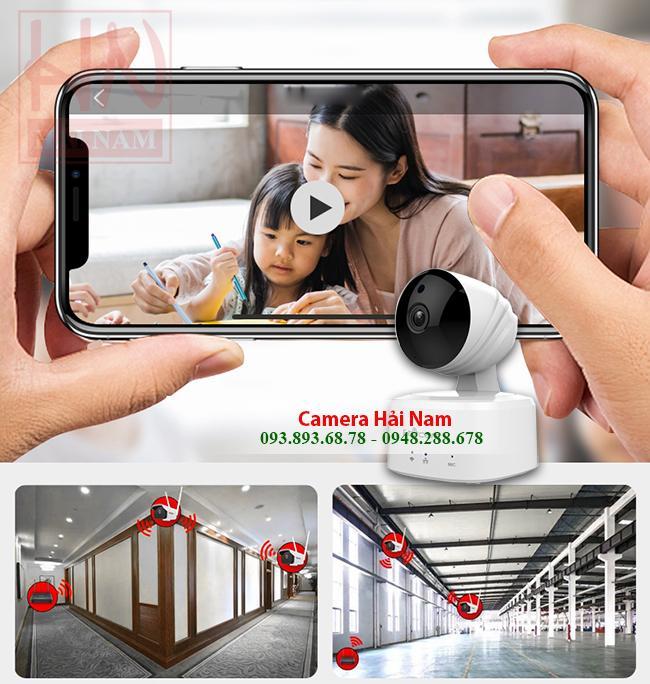 Camera Wifi Ebitcam 1MP HD 720P - quay quét 360 giám sát không giới hạn