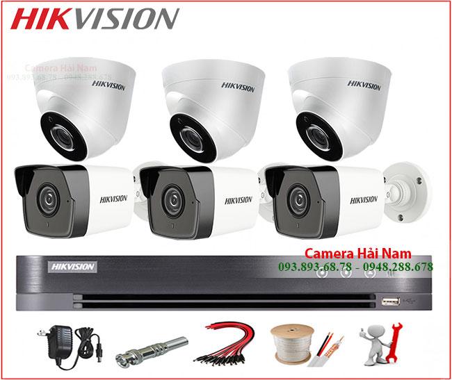 Trọn bộ 6 camera Hikvision 4 mắt 5MP