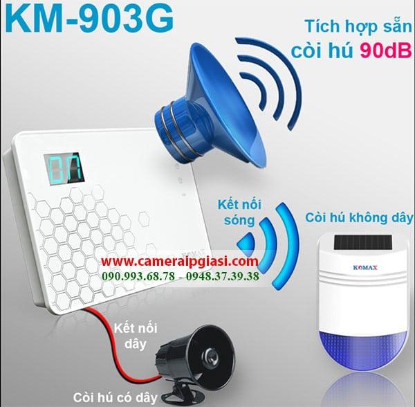 Thiết bị chống trộm Komax KM-903G chính hãng, giá rẻ