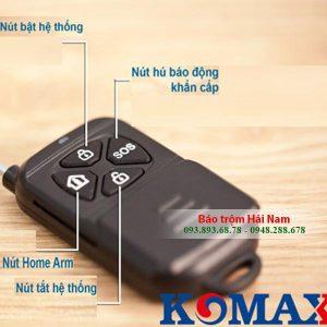 Thiết bị chống trộm cao cấp Komax KM-999GSM dùng SIM báo qua điện thoại Chính hãng, Giá rẻ