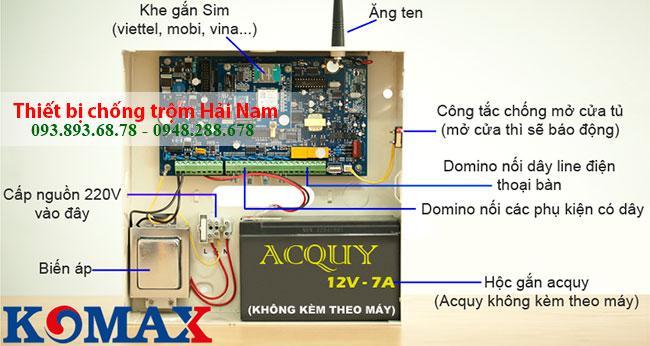Thiết bị chống trộm cao cấp Komax KM-999GSM