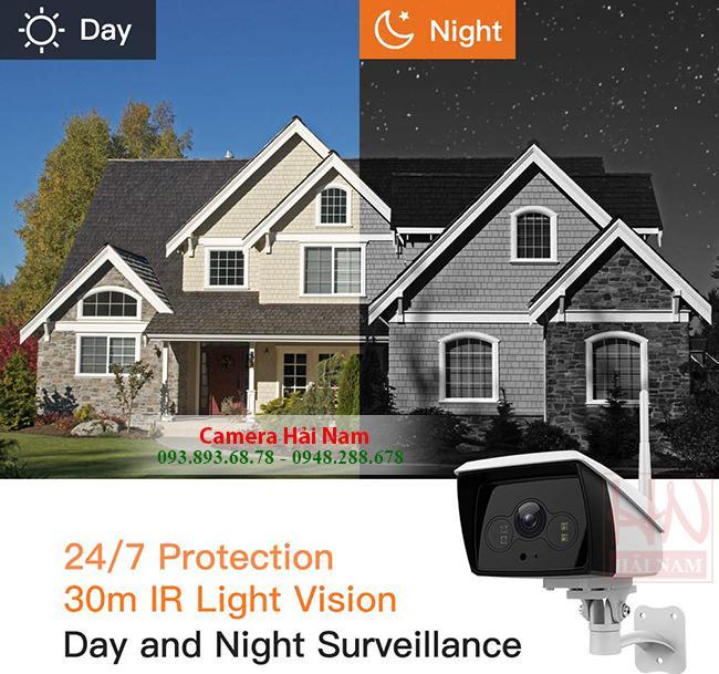 Camera wifi Ebitcam Ngoài trời 2MP Full HD có đèn ban đêm, báo trộm, đàm thoại SIÊU CHUẨN - GIÁ RẺ