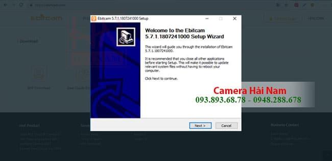 Cài đặt camera Ebitcam trên PC