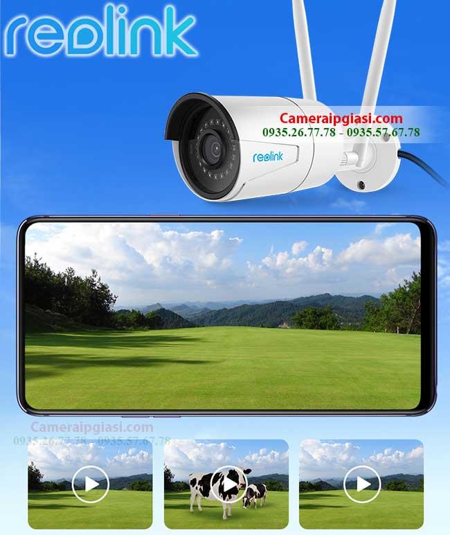 camera wifi ngoai troi chinh hang reolink rlc 410w 4mp