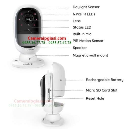 CAMERA WIFI DUNG PIN MAT TROI 1080P REOLINK ARGUS 2