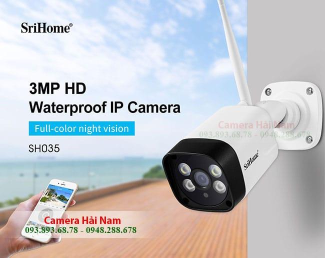 Camera Wifi Ngoài Trời Srihome Giá Rẻ 3MP [Giảm 59%]
