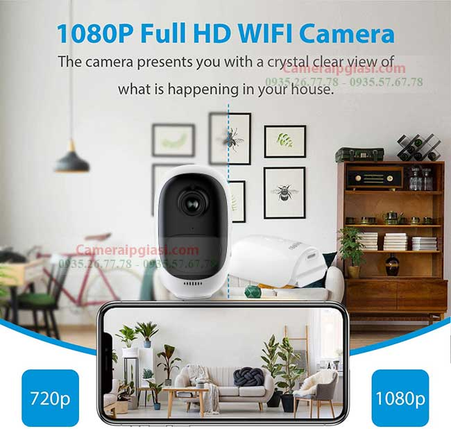 camera wifi co pin reolink argus 2 ghi hinh sac net full hd 1080p