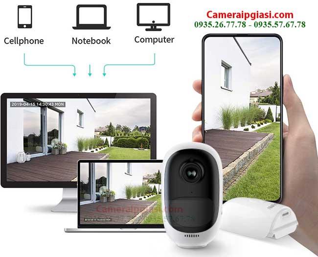 camera wifi dung pin reolink argus 2 xem tren dien thoai may tinh pc