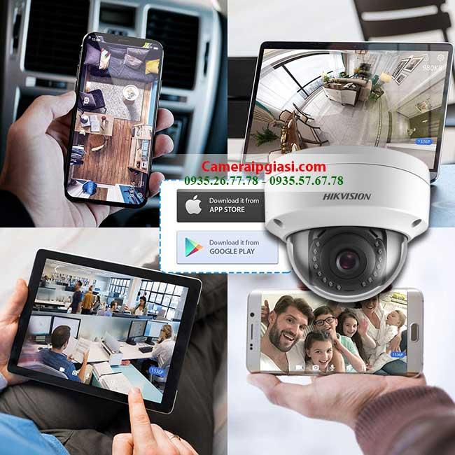 Camera Hikvision DS 2CD1123G0E I 2MP xem moi luc moi noi tren dien thoai
