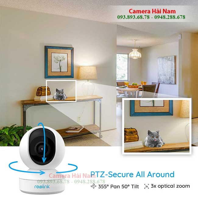 camera wifi reolink e1 zoom 5mp xoay da chieu 360