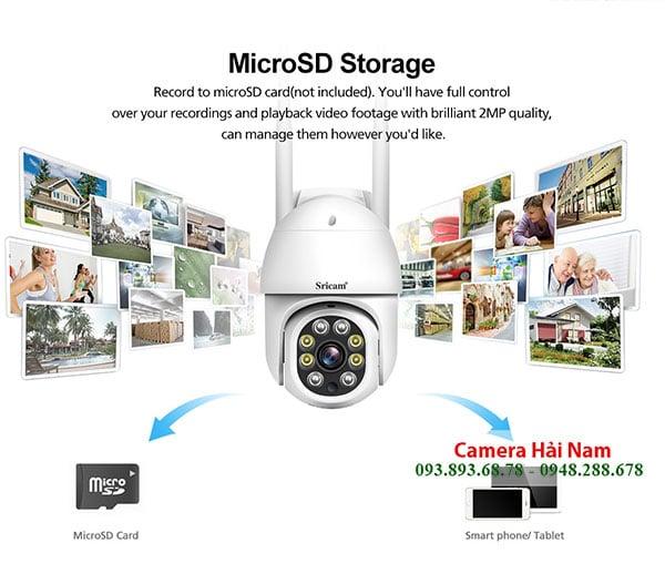 Camera wifi 360 Srihome 2MP luu tru the sd