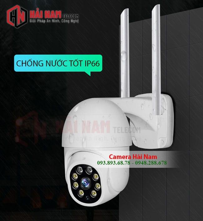 camera wifi ngoai troi xoay 360 2mp chong nuoc hoan hao