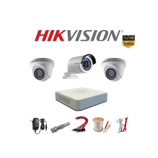 Tron bo 3 camera Hikvision 2MP chinh hang
