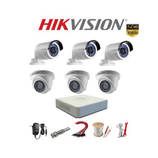Tron bo 6 camera Hikvision 2MP chinh hang