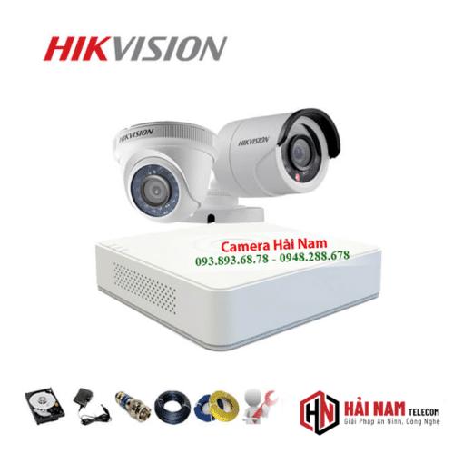 Bộ 2 Mắt Camera Hikvision 2.0MP Full HD 1080P chính hãng