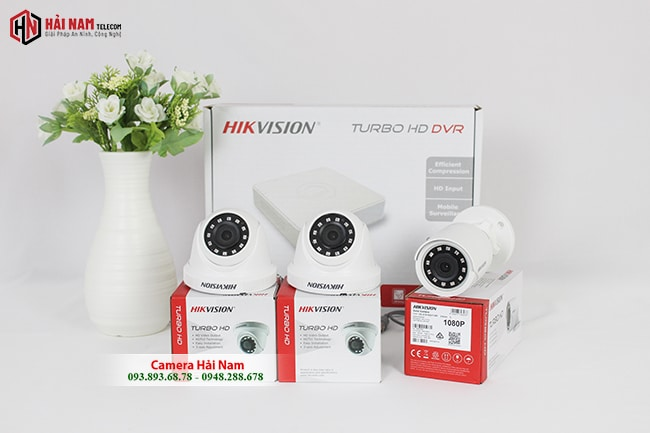 Trọn Bộ 3 Camera Hikvision 2MP Chính hãng