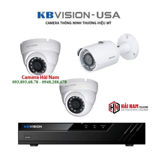 Lắp Đặt Trọn Bộ 3 Mắt Camera KBVision 5MP Siêu Nét 2K, Nhìn đêm 30 mét,...