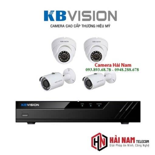 tron bo 4 camera kbvision 5mp chinh hang