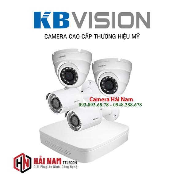 Trọn bộ 4 camera KBvision 5MP Siêu Nét 2K, Chính hãng, IP67, vỏ kim loại