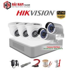 Bộ 5 Mắt Camera Hikvision 2.0MP Full HD 1080P chính hãng, chống nước hiệu quả