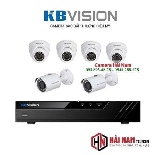 Trọn bộ 6 Camera KBvison 5MP Siêu Nét 2K Chính hãng