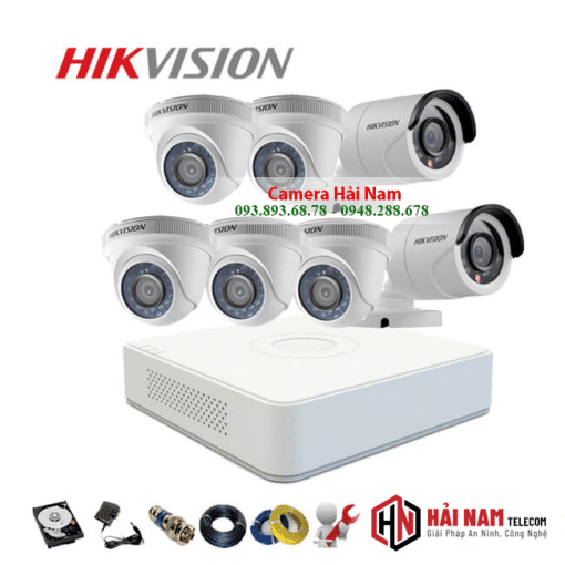Trọn Bộ 7 Camera Hikvision 2MP Full HD 1080P - GIẢM TẬN GỐC - BAO LẮP