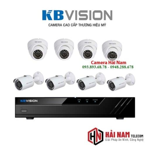 tron bo 8 camera kbvision 5mp chinh hang
