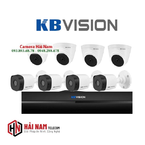 Trọn Bộ 8 Camera KBvision 2MP 4 in 1 Chính Hãng, IP67, Hồng ngoại 20m