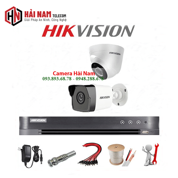 Trọn bộ camera 2 mắt Hikvision 5MP Siêu Nét 2K chính hãng