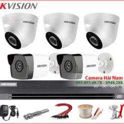 Trọn bộ 5 camera Hikvision 5MP \
