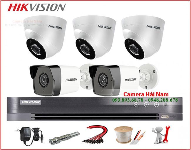 Trọn bộ 5 camera Hikvision 5MP