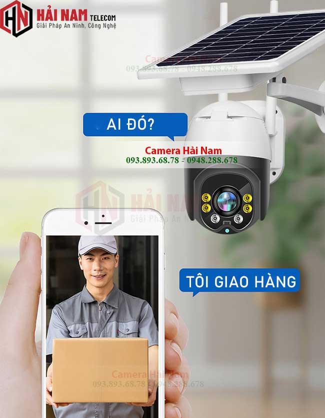 CAMERA WIFI DUNG SIM 4G NANG LUONG MAT TROI 2MP dam thoai
