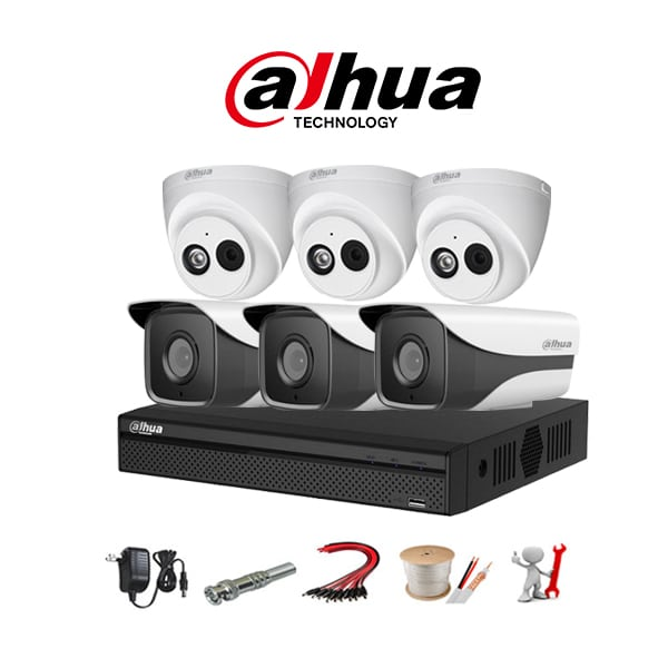 Tron bo 6 camera IP Dahua 2MP Chinh Hang Full HD 1