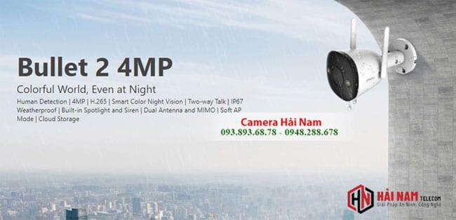 Camera IMOU IPC F42FEP 4MP Full Color Chính hãng, Giá Rẻ - Màu Ban Đêm, IP67, Báo Động thông minh