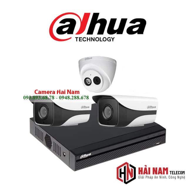 trọn bộ 3 camera IP Dahua 2MP