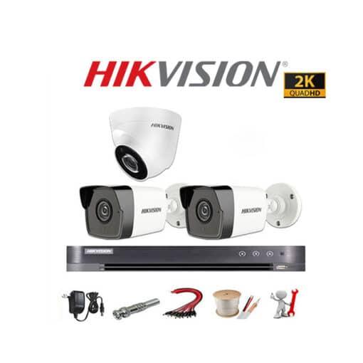 Tron Bo 3 Camera Hikvision 5MP Sieu Net Super HD